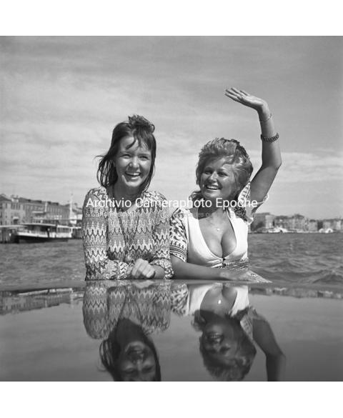 Stephanie Beacham - Waving From A Water Taxi