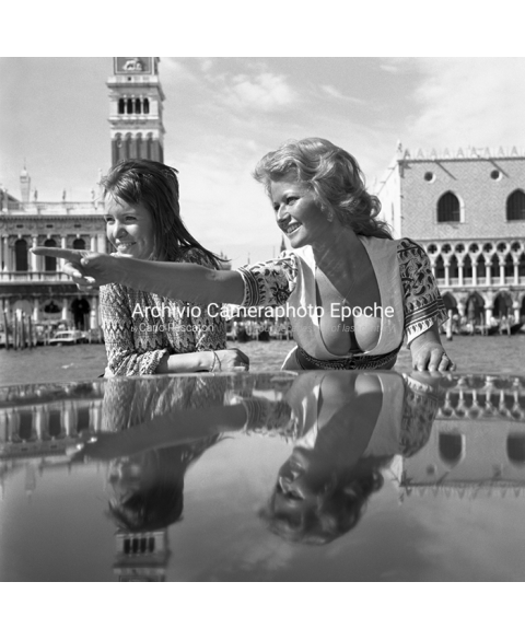Stephanie Beacham - St. Mark Square In The Background