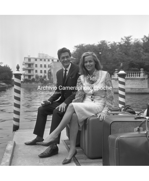 Honor Blackman - Sitting On Their Luggages