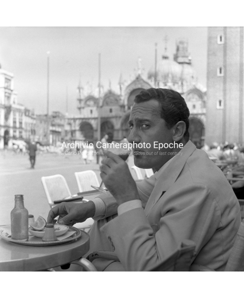 Alberto Sordi - Sipping His Tomato Juice