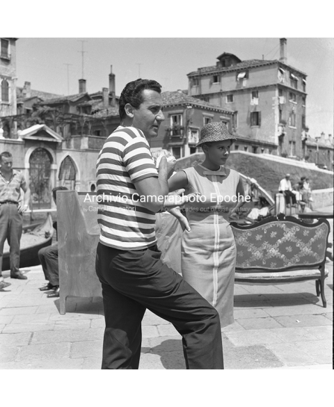 Alberto Sordi - On The Set