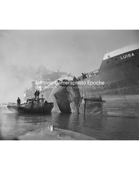 Tank Ship Fire - Containing Flames