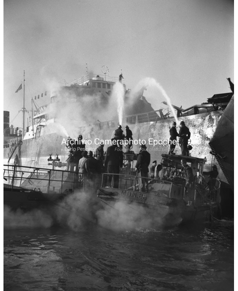 Tank Ship Fire - Working From The Boat