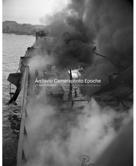 Tank Ship Fire - On Fire