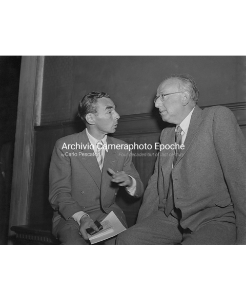 PEN Club Venice 1961 - Erich Kästner and Robert Neumann I