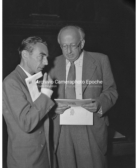 PEN Club Venice 1962 - Erich Kästner and Robert Neumann II