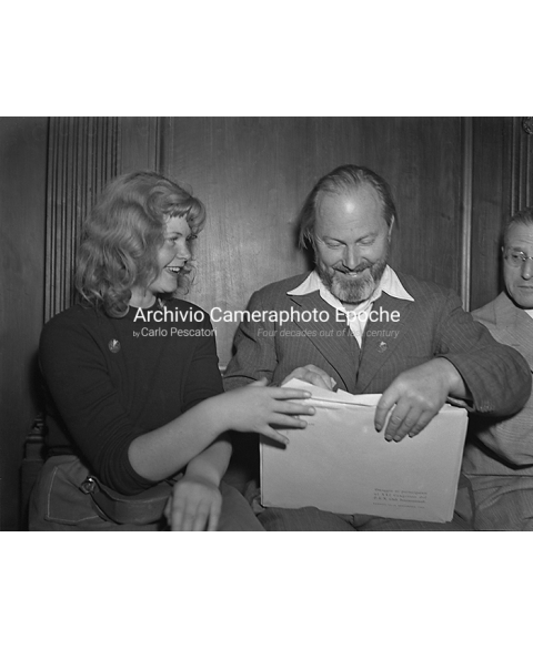 PEN Club Venice 1968 - Birgit Linde and father Ebbe Linde