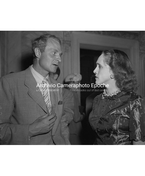 PEN Club Venice 1973 - British poet Stephen Spender and wife