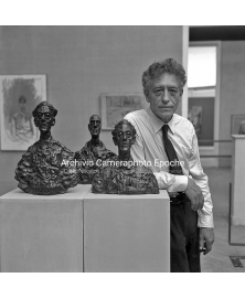 With His Sculptures