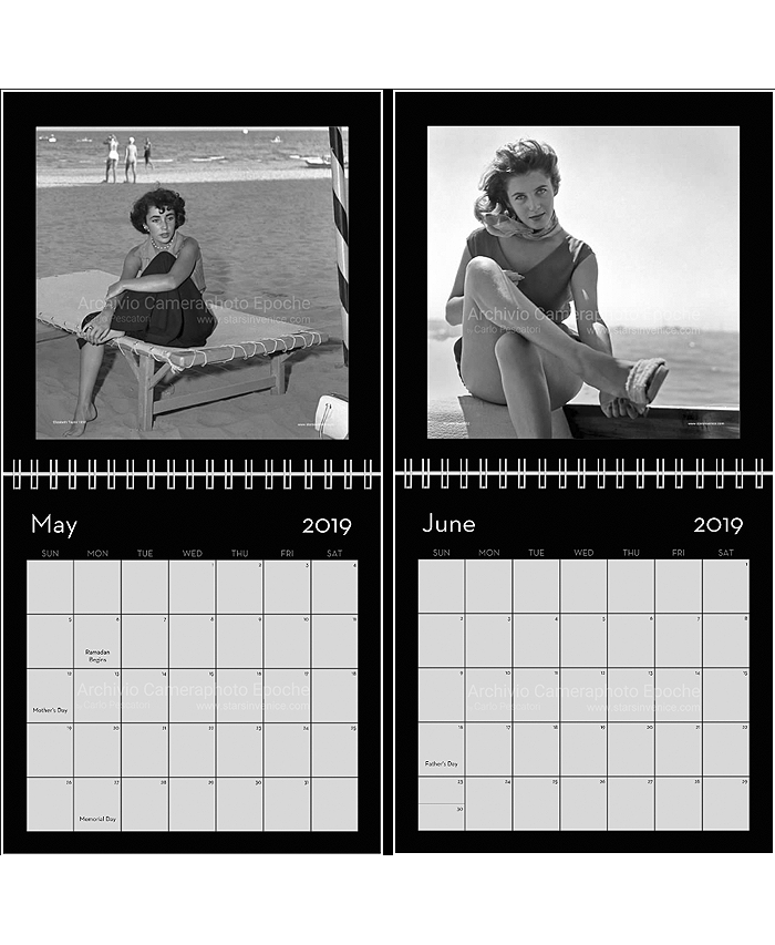 MAY: Elizabeth Taylor 1950 / JUN: Myriam Bru 1952.
