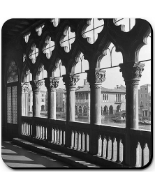 The Ca' d'Oro palace balcony, 1949.