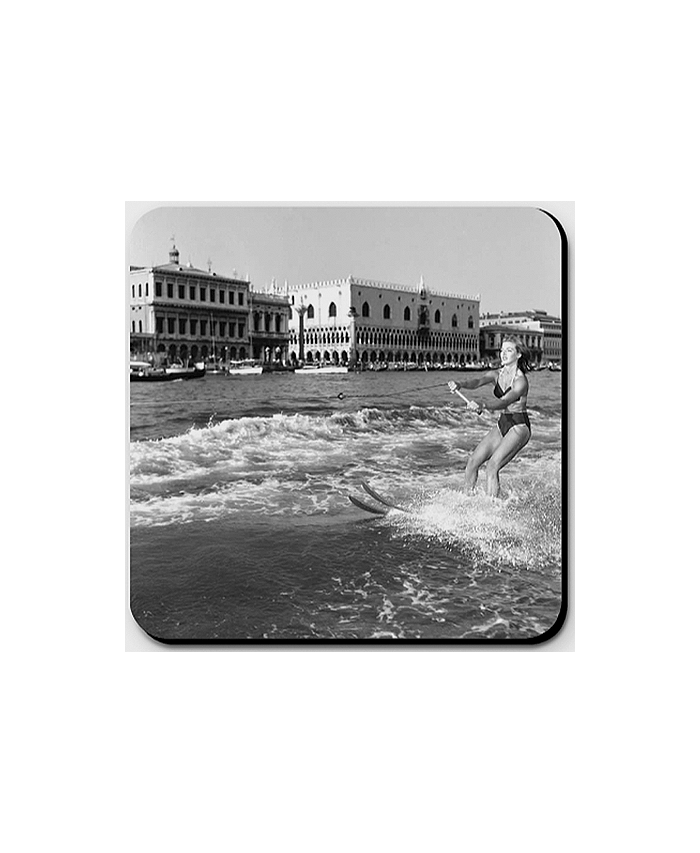 Water ski in St Mark's Basin, 1954.