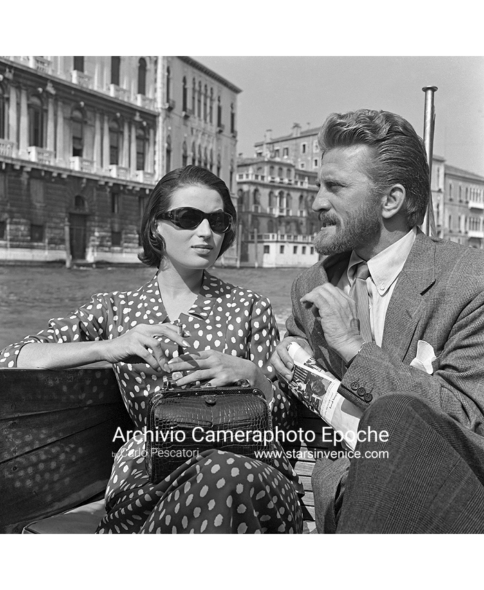 Kirk Douglas - On A Water Taxi.