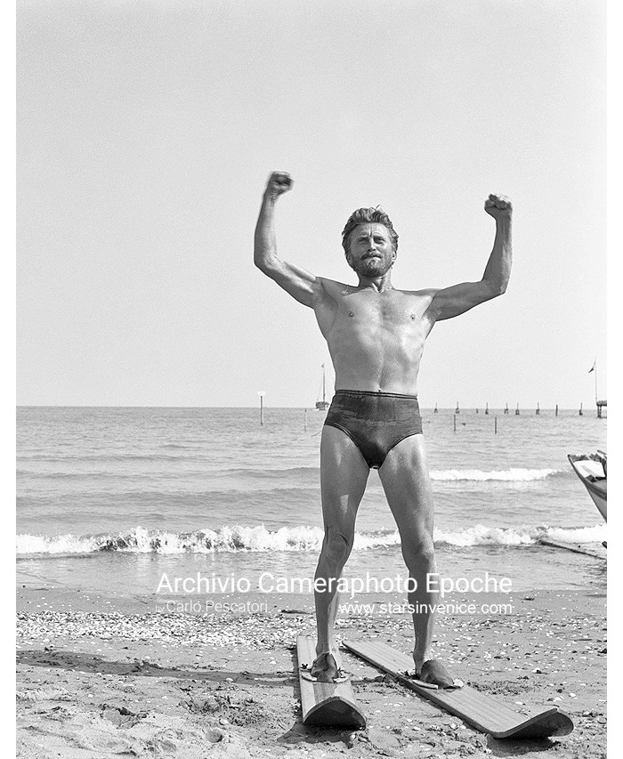 Kirk Douglas - With Waterskis