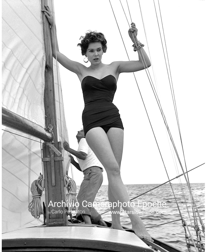 Tania Weber - On a sailboat