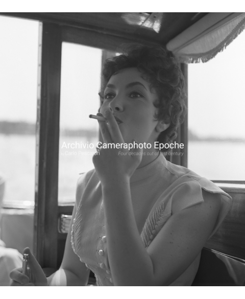 Gina Lollobrigida - Smoking A Cigarette