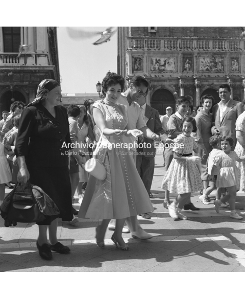 Gina Lollobrigida - In St. Mark Square
