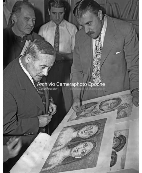 Joan Miro' - Looking At Campigli Drawings