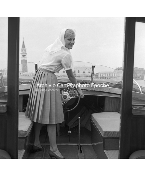 Virna Lisi - Driving A Water Taxi