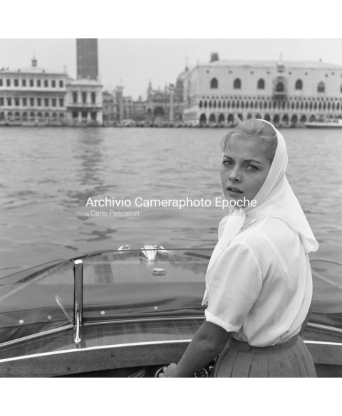 Virna Lisi - Looking At St. Mark Square