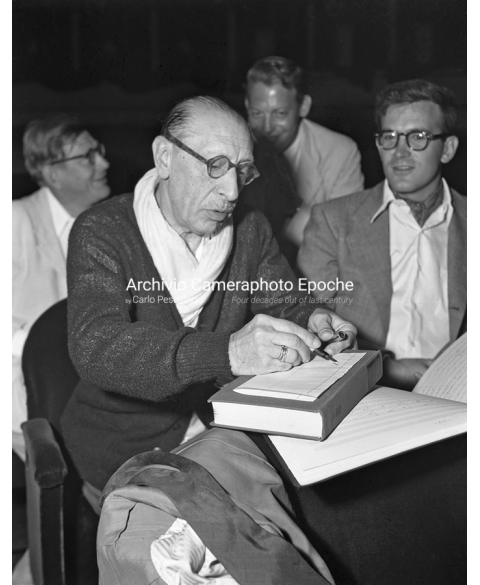 Igor Stravinsky - Writing Notes Down