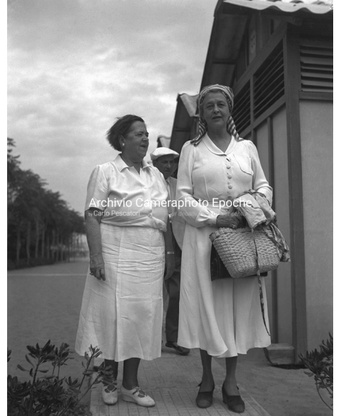 Elsa Maxwell - With Miss Mary Hoyt Wiborg