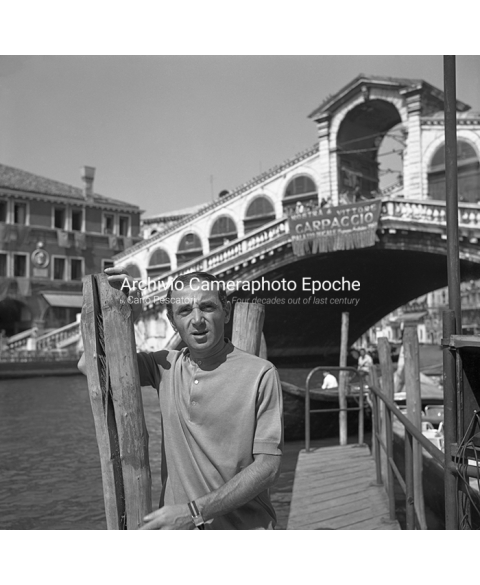 Charles Aznavour - Posing In Front Of Rialto Bridge