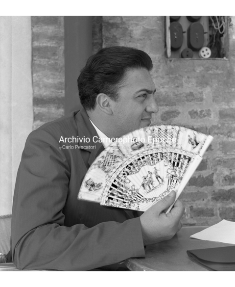 Federico Fellini - With A Fan