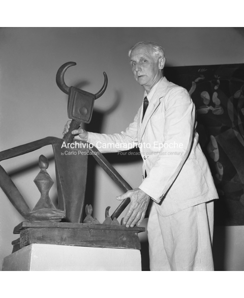 Max Ernst - With His Sculpture