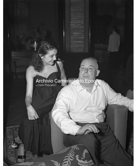 Jean Renoir - With Gianna Sanghe