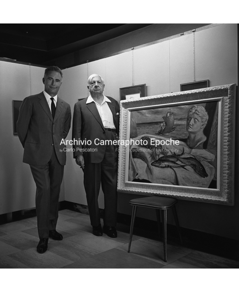 Giorgio De Chirico - With His Painting