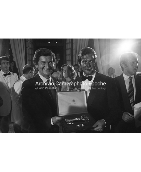 Roger Moore - During A Prize-Giving